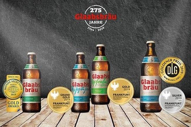 Glaabsbräu freut sich über hohe Auszeichnungen für ihre Biere