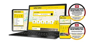 Consumers vote Yellow Pages into the top 3 of the best online portals in Germany