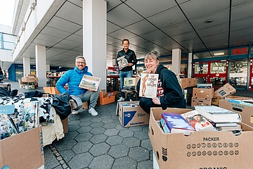 After arson: relief action for the book market at the Bockenheim campus started