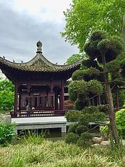Wiederaufbau des Chinesischen Pavillons im Bethmannpark beginnt