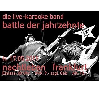 Die Live-Karaoke Band: Battle der Jahrzehnte