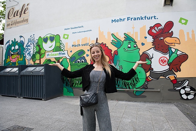 #cleanffm bringt das Anti-Müll-Monster an die Kleinmarkthalle