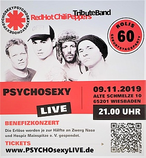 PSYCHOSEXY Red Hot Chili Peppers Tribute Band Benefizkonzert