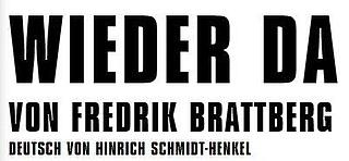 Frederik Brattberg: There Again