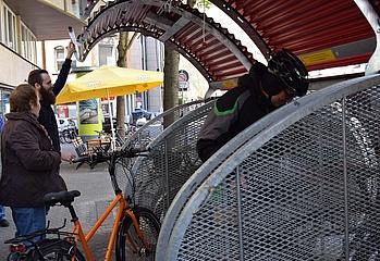 Modellversuch im Nordend: Eine Garage nur für Fahrräder