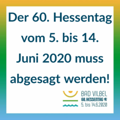 The Hessentag 2020 in Bad Vilbel is cancelled