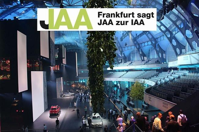 Frankfurter Mobilitäts-Botschaft: 'Frankfurt sagt JAA zur IAA'