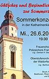 Sommerkonzert des Frauenchors des Polizeichors Frankfurt