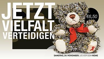 Bear sales of the AIDS Hilfe Frankfurt in MyZeil