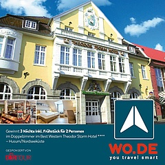 Experience relaxed days at the North Sea coast with wo.de