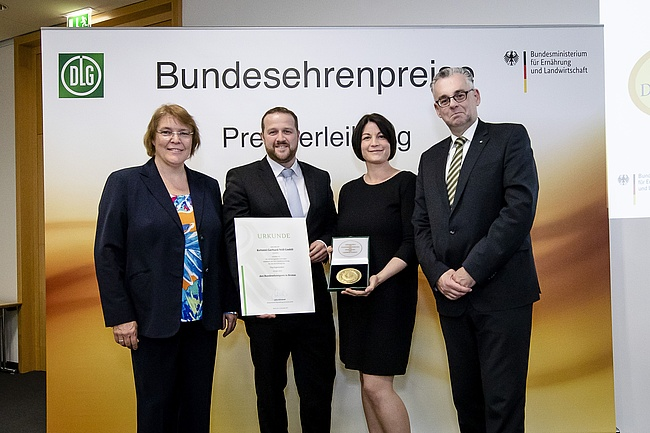 Bundesehrenpreis for Nöll wine press from Frankfurt am Main
