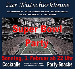 SuperBowl 2019 LIVE gucken in Frankfurt