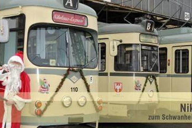 Im Nikolaus-Express zum Schwanheimer Weihnachtsmarkt