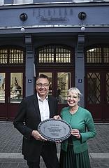 Origineller Hausschmuck in der neuen Frankfurter Altstadt