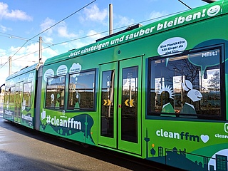 #cleanffm tram introduced