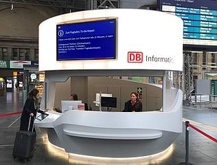 Neue 'DB Information 4.0' im Frankfurter Hauptbahnhof