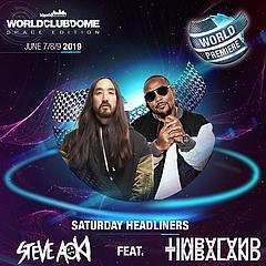 Weltpremiere - Steve Aoki mit Timbaland gemeinsam on Stage beim WORLD CLUB DOME