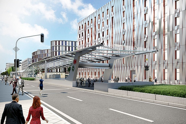 New S-Bahn station Gateway Gardens at the airport inaugurated