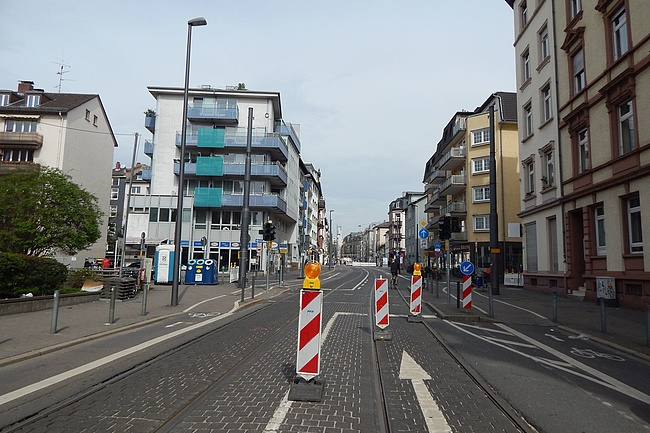 Full closure of Eckenheimer Landstraße