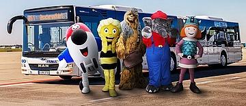 Kleine Helden, große Flieger: mit dem Lieblings-Maskottchen auf Tour