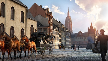 TimeRide Frankfurt opens: Experience a virtual reality time travel to the old Frankfurt