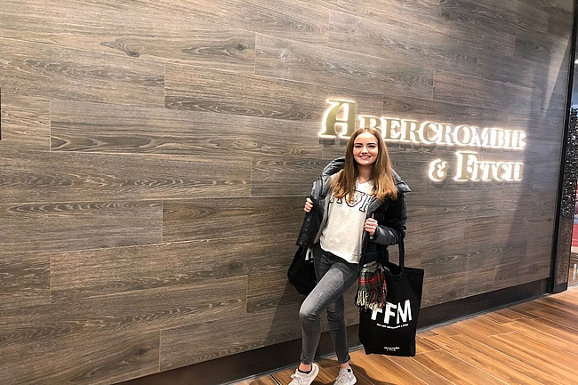 Abercrombie and Fitch Store neu im Shopping Center MyZeil