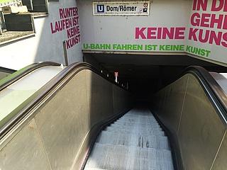 U4 und U5 wegen Brandschutzarbeiten in der Station Dom/Römer unterbrochen