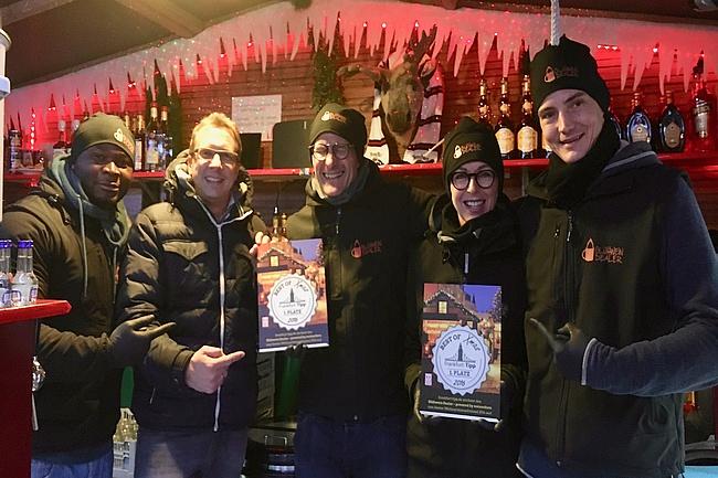 Glühwein Dealer ist bester Stand auf dem Frankfurter Weihnachtsmarkt