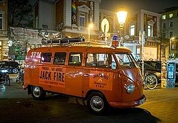 Das JACK FIRE Mobil besucht Frankfurt