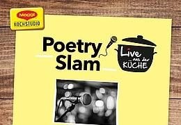 Live aus der Küche: Poetry Slam mit Jey Jey Glünderling & Co.
