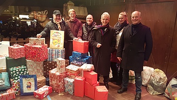 Schausteller sammeln Päckchen für Obdachlose
