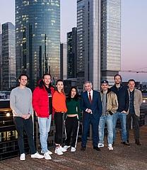 Dreharbeiten der neuen Netflix-Serie 'Skylines' in Frankfurt