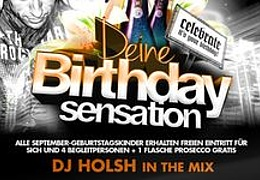Birthday Party mit DJ Holsh