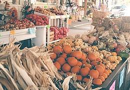 Halloween auf dem Markt