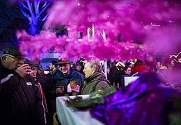 Rosa Weihnachtsmarkt