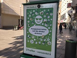 Mit Gum-Walls für ein sauberes Frankfurt