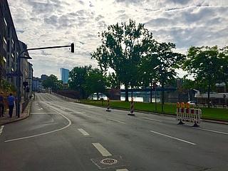 Probeweise Öffnung des nördlichen Mainufers für den Fuß- und Radverkehr beginnt