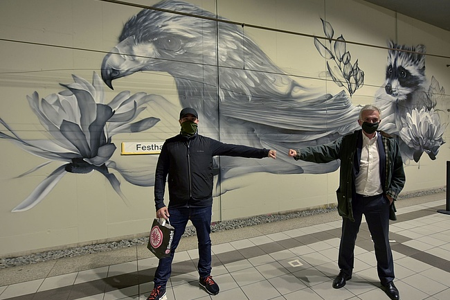 Visit from the Canadian twin city Toronto Frankfurt a mural