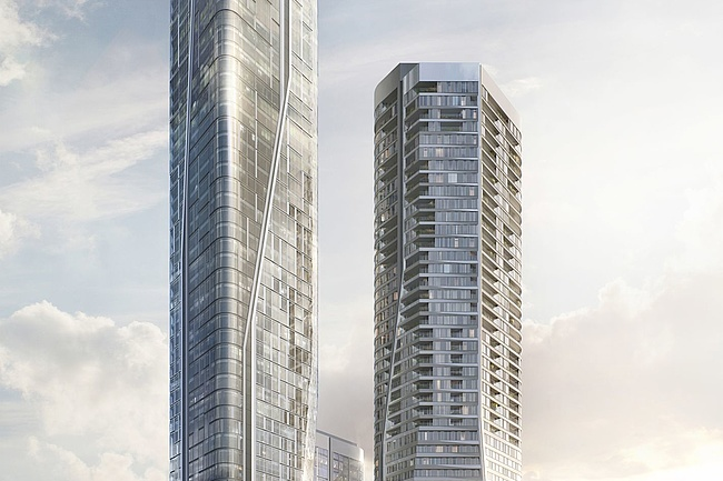 Project FOUR - Four new high-rise buildings for Frankfurt city centre