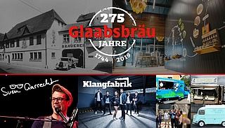 275 Jahre Glaabsbräu Jubiläumsfest