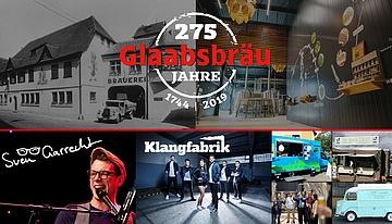 Glaabsbräu feiert ihr 275jähriges Jubiläum