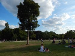 Der Günthersburgpark - Not only in summer one of Frankfurt's most popular parks