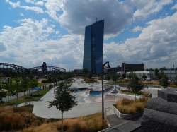 Der Hafenpark - Sport und Entspannung am Fuße der EZB