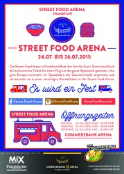 1. Street Food Arena an der Commerzbank-Arena