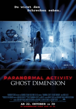 Hauptplakat und Trailer zu PARANORMAL ACTIVITY: GHOST DIMENSION 3D
