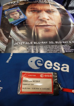DER MARSIANER zu Besuch bei der ESA in Darmstadt