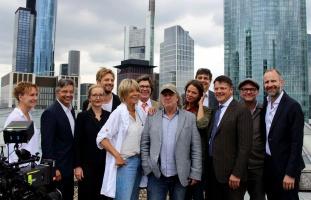 Filmdreh über den Dächern von Frankfurt