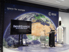 DER MARSIANER visiting ESA in Darmstadt