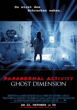Main poster and trailer for PARANORMAL ACTIVITY: GHOST DIMENSION 3D