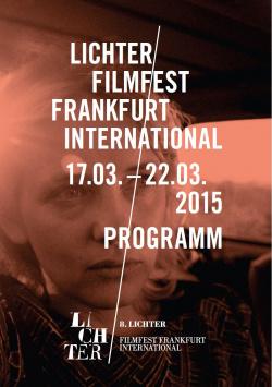 LICHTER Film Festival 2015